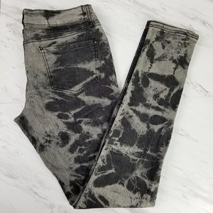 Mossimo Bleached Black Grey Skinny Jegging Size 9
